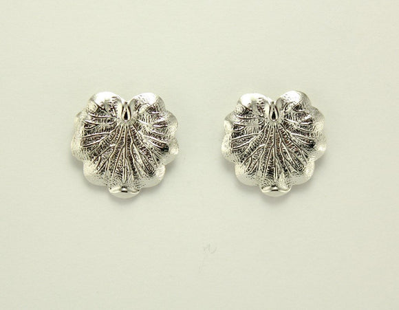 Silver Lily Pad  Magnetic Non Pierced Clip Earrings
