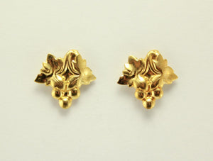 Gold Grape Cluster Magnetic Non Pierced Clip Earrings - Laura Wilson Gallery