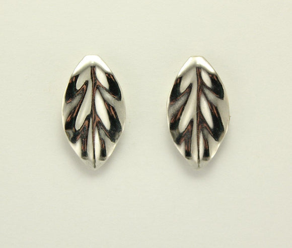 Silver Leaf Magnetic Non Pierced Clip Earrings