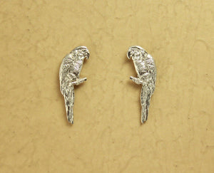 Magnetic Silver Parrot Clip Earrings - Laura Wilson Gallery