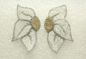 Custom Made Fabric Flower Petal Magnetic  or Pierced  Earrings - Laura Wilson Gallery
