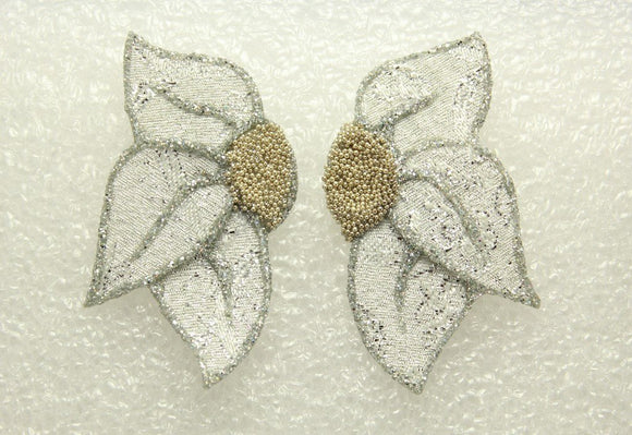 Custom Made Fabric Flower Petal Magnetic  or Pierced  Earrings