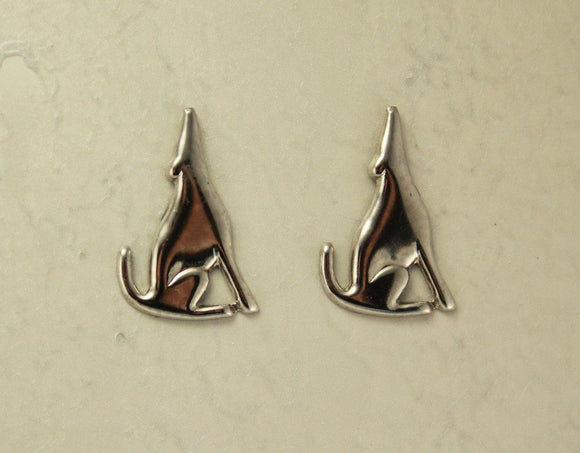 Southwest Silver Coyote Magnetic Clip Non Pierced Earrings - Laura Wilson Gallery