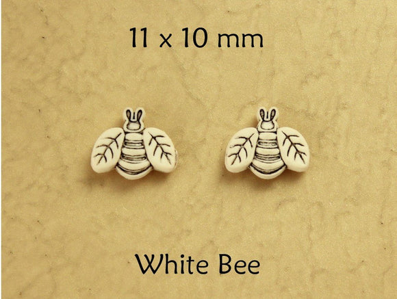 Children's White Bee Cute Magnetic Earrings - Laura Wilson Gallery
