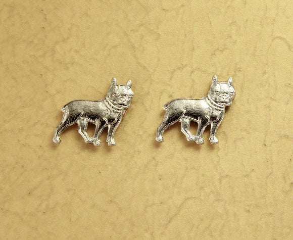 Silver Dog Magnetic Earrings