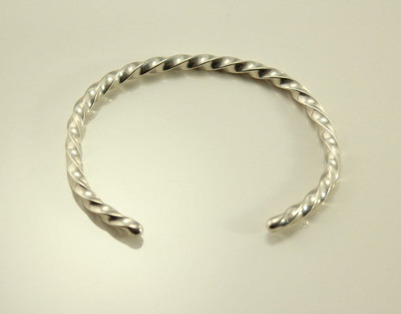 Vintage Sterling Silver Twisted Wire Cuff Bracelet - Laura Wilson Gallery