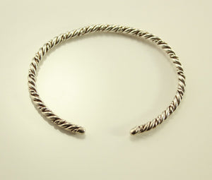 Vintage Sterling Silver Twisted Wire Cuff Bracelet no 7 - Laura Wilson Gallery