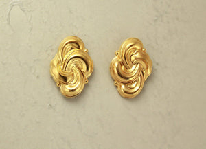Knot Magnetic Clip Non Pierced Earrings 14 Karat Gold Plated 15 x 20 mm - Laura Wilson Gallery