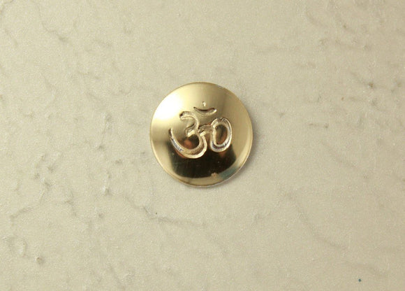 Handmade Om Symbol Magnetic Non Pierced Clip or Pierced Earring - Laura Wilson Gallery