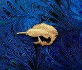 14 Karat Gold Plated Magnetic Swordfish Tie Pin Clip or Tack - Laura Wilson Gallery