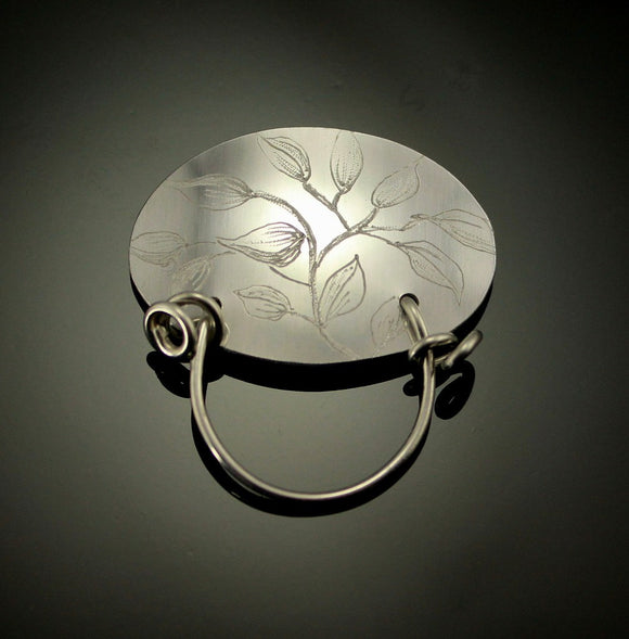 Handmade and Engraved Original Design Magnetic Sterling Silver or Aluminum Eyeglass Holder - Laura Wilson Gallery