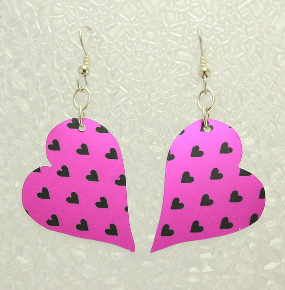 Handmade Custom Order Aluminum Heart Dangle Earrings - Laura Wilson Gallery