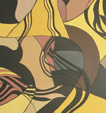 Original Textured Acrylic Brown Gold Black Abstract Painting on Stretched Canvas - Laura Wilson Gallery