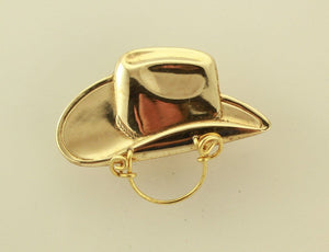 Magnetic Eyeglass Holder Gold Cowboy Hat - Laura Wilson Gallery