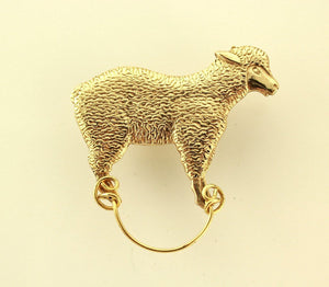 Magnetic Eyeglass Holder Golden Fleece Brass Sheep - Laura Wilson Gallery