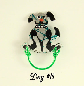 Hand Painted Original Dog Magnetic Eyeglass Holder - Laura Wilson Gallery