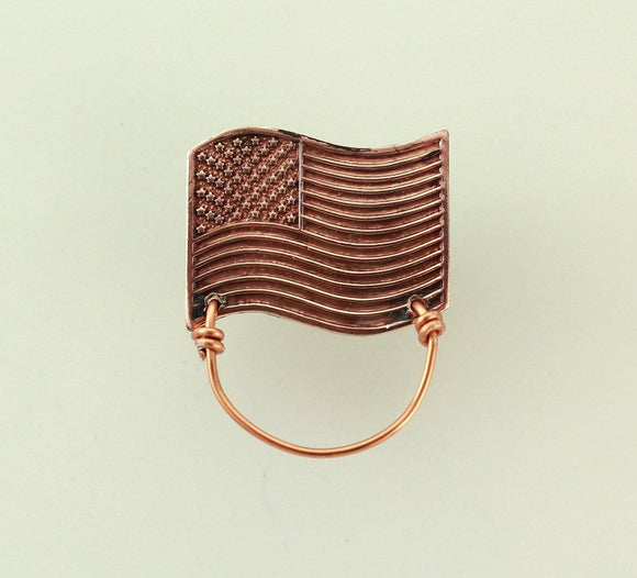 American Flag Copper Magnetic Eyeglass Holder - Laura Wilson Gallery