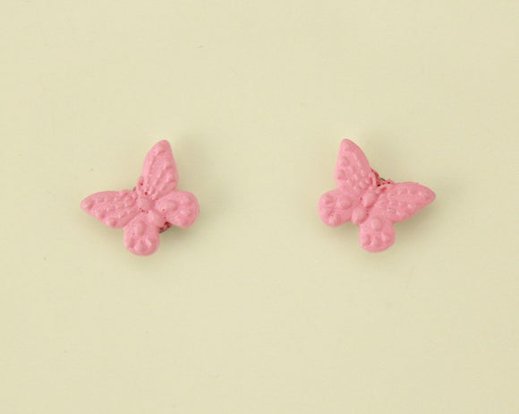 Children's Cute Pink Butterfly Magnetic Earrings - Laura Wilson Gallery