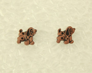 Dark Brown Dog Children's Magnetic Earrings - Laura Wilson Gallery