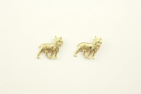 Handmade 17 x 15 Gold Dog Magnetic Clip Earring - Laura Wilson Gallery