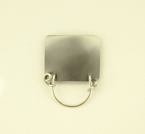 Handmade Medium Aluminum Rectangle Magnetic Eyeglass Holder in All Colors - Laura Wilson Gallery