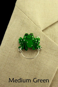 Cute Frog Magnetic Eyeglass Holder Custom Made Hand Painted - Laura Wilson Gallery