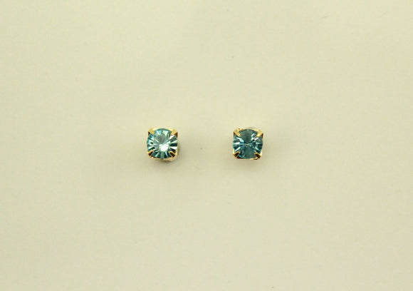 Magnetic 4 mm Square Set  Swarovski Crystal Earrings - Laura Wilson Gallery
