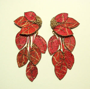 Custom Made Fabric Dangle Magnetic or Pierced Earrings - Laura Wilson Gallery