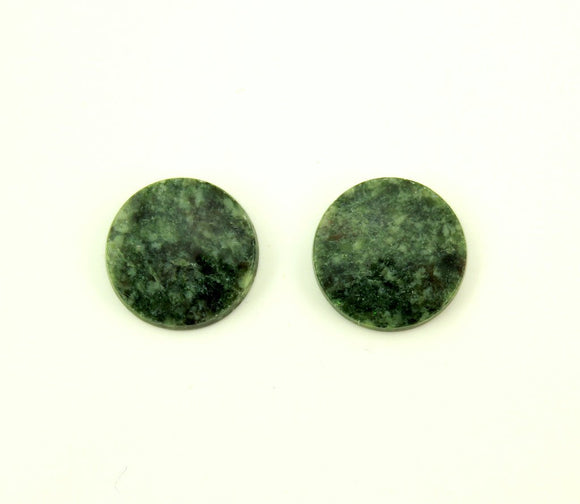 Natural Wyoming Jade 13 mm Round Stone Magnetic Earrings - Laura Wilson Gallery