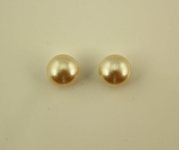 10 MM Round High Dome Pearl Cabochon Magnetic or Pierced Earrings - Laura Wilson Gallery