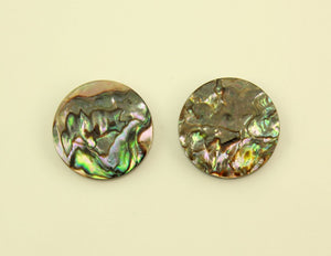Abalone Shell 15 mm Round Magnetic Non Pierced Clip On Earrings - Laura Wilson Gallery
