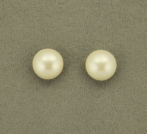 14 mm Low Dome Glass 1/3  Pearl Magnetic or Pierced Earrings - Laura Wilson Gallery