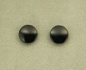 Black Obsidian Volcanic Glass 18 mm Round Magnetic Non Pierced Clip On Earrings - Laura Wilson Gallery