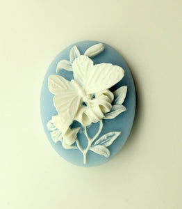 Handmade Acrylic Butterfly and Floral Magnetic Brooch or Eyeglass Holder