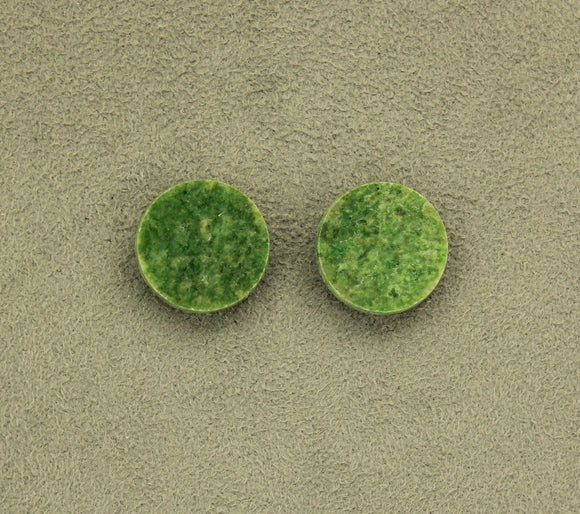 Natural Wyoming Jade Stone 18 mm Round Magnetic Earrings