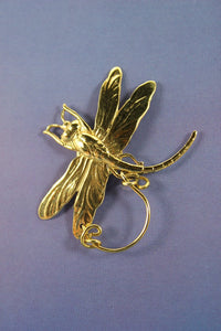 14 Karat Gold Plated Brass Dragonfly Magnetic Eyeglass Holder or Brooch - Laura Wilson Gallery