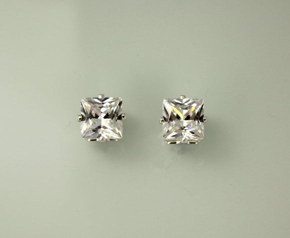 Princess Cut Square 5 mm Magnetic Earrings - Laura Wilson Gallery