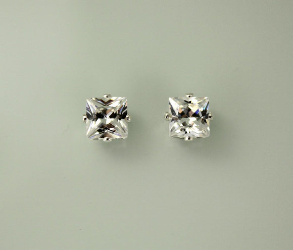 Princess Cut Square 6 mm Magnetic Earrings - Laura Wilson Gallery