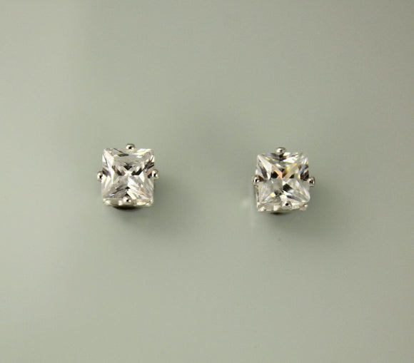 Princess Cut Square 7 mm Magnetic Earrings - Laura Wilson Gallery