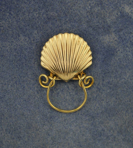 Magnetic Scallop Shell Eyeglass Holder or Brooch - Laura Wilson Gallery