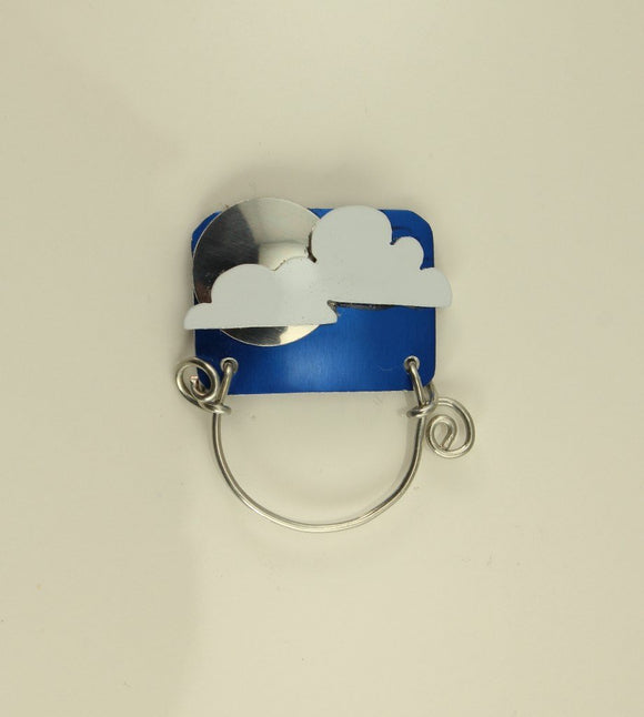 Moon or Sun and Clouds Magnetic Eyeglass Holder - Laura Wilson Gallery