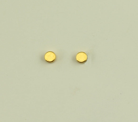3 mm Gold Disc Magnetic Non-Pierced Earrings - Laura Wilson Gallery