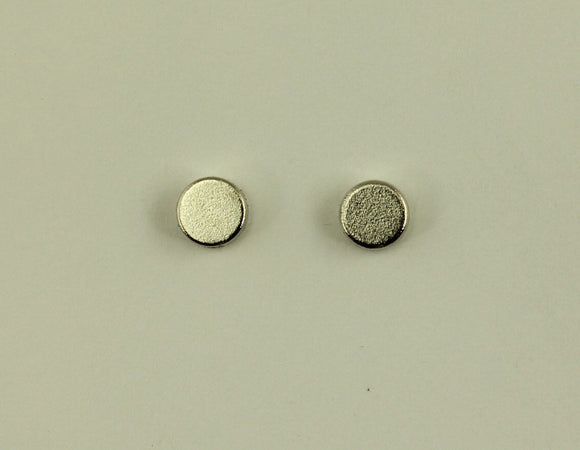 4 mm Silver Disc Magnetic Non-Pierced Earrings - Laura Wilson Gallery