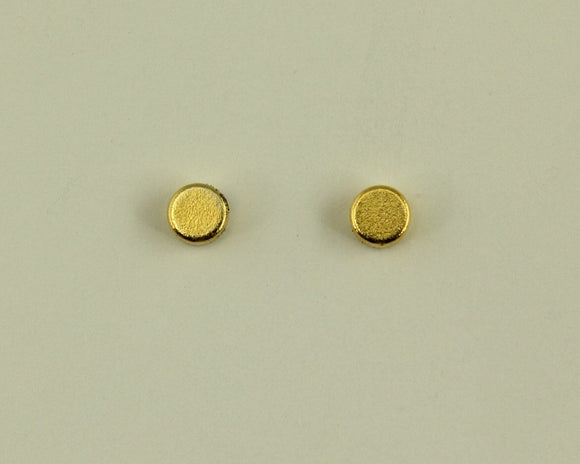 4 mm Gold Disc Magnetic Non-Pierced Earrings - Laura Wilson Gallery