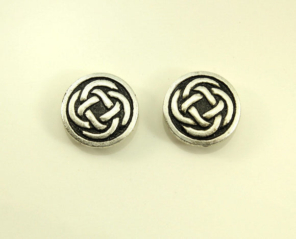15 mm Round Celtic Knot Magnetic Earrings