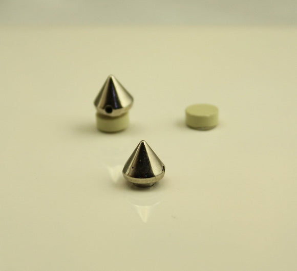 Silver Cone Magnetic Non Pierced Clip Earrings - Laura Wilson Gallery
