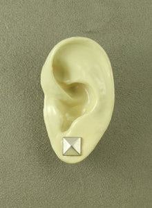9  mm Square Pewter Silver Magnetic Non Pierced Earrings - Laura Wilson Gallery