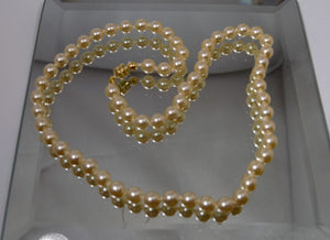 Faux Cream 6mm Pearl 16 Inch Necklace With Gold Clasp - Laura Wilson Gallery