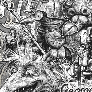 Details from the Jareth print.