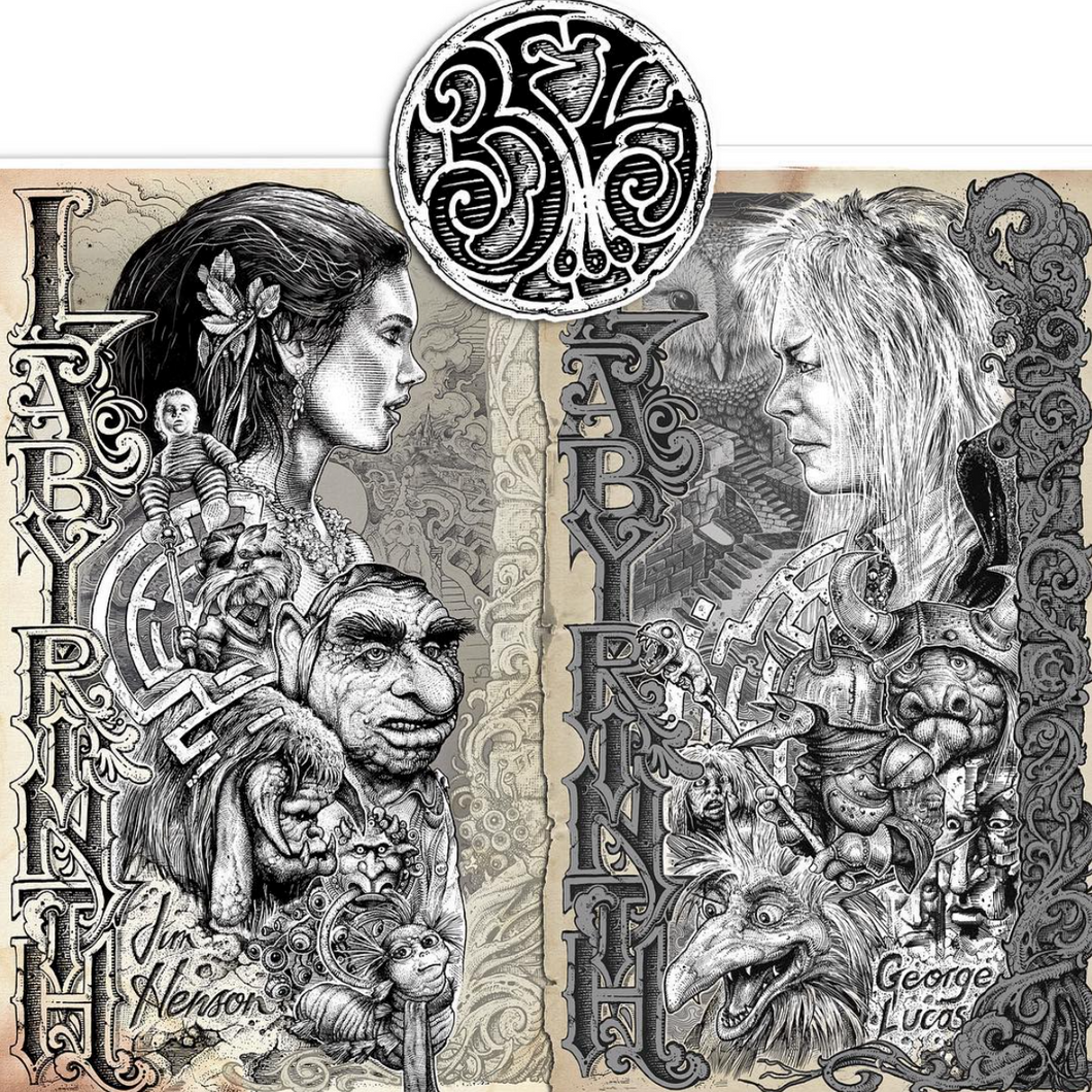 One of each print included. Sarah & Jareth, the Goblin King. (Bez sticker included!)
